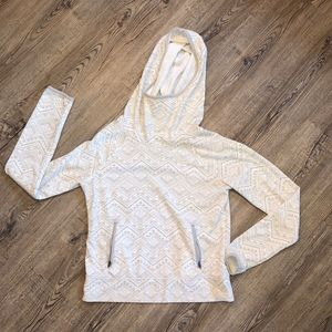 SO White& Gray Aztec Hooded Sweater - Size Medium
